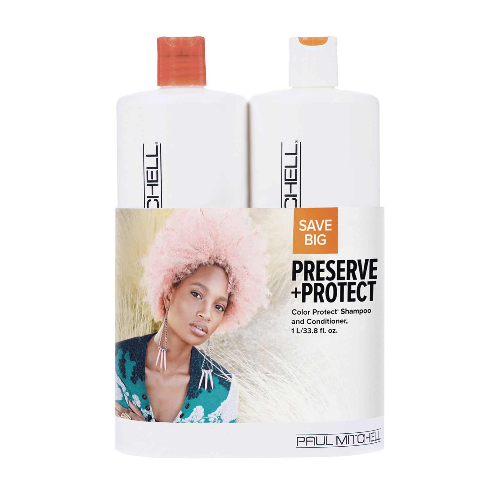 Color Protect Shampoo, Conditioner Liter Duo