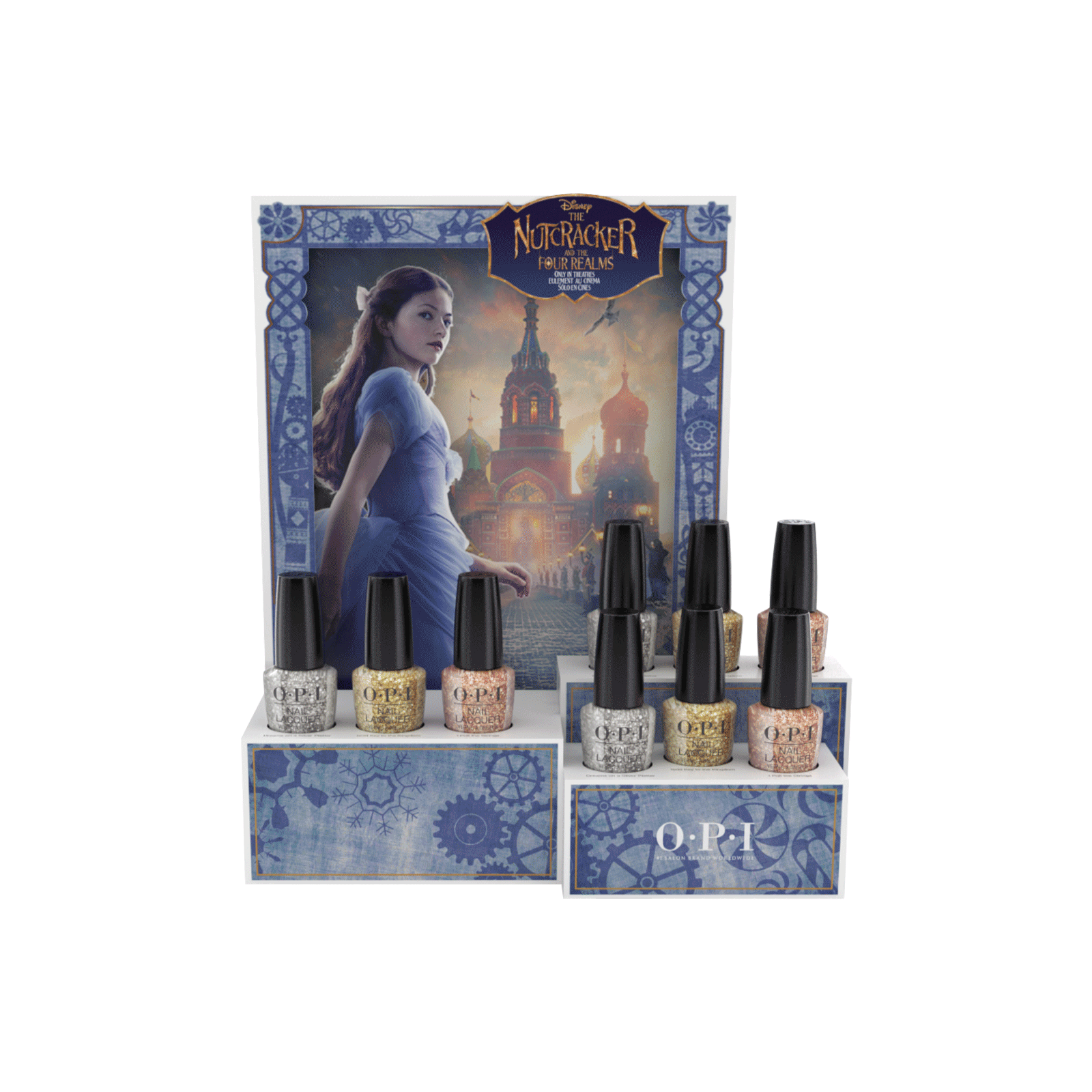 The Nutcracker Nail Lacquer Glitter - 9 Piece Display