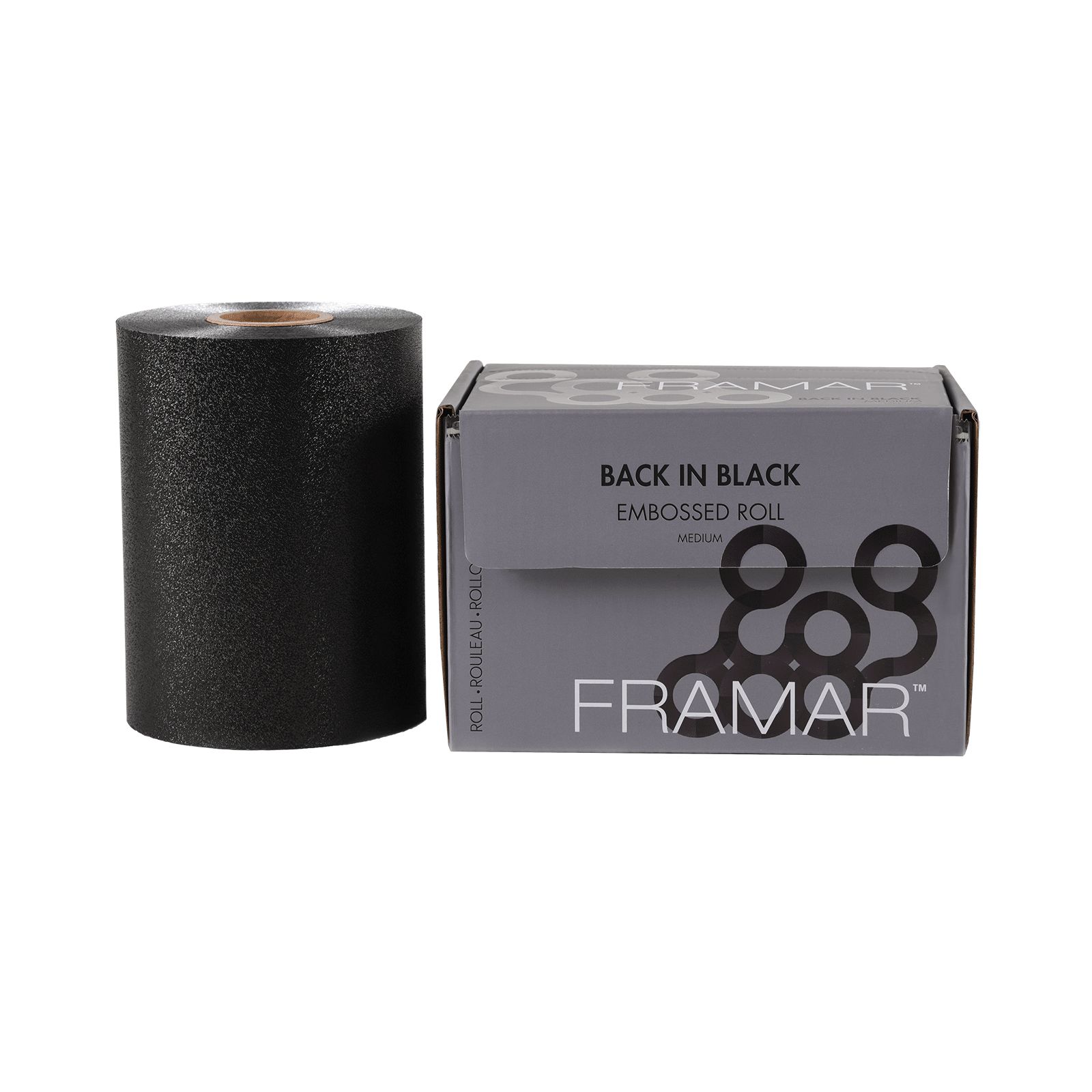 Back In Black Embossed Foil Roll