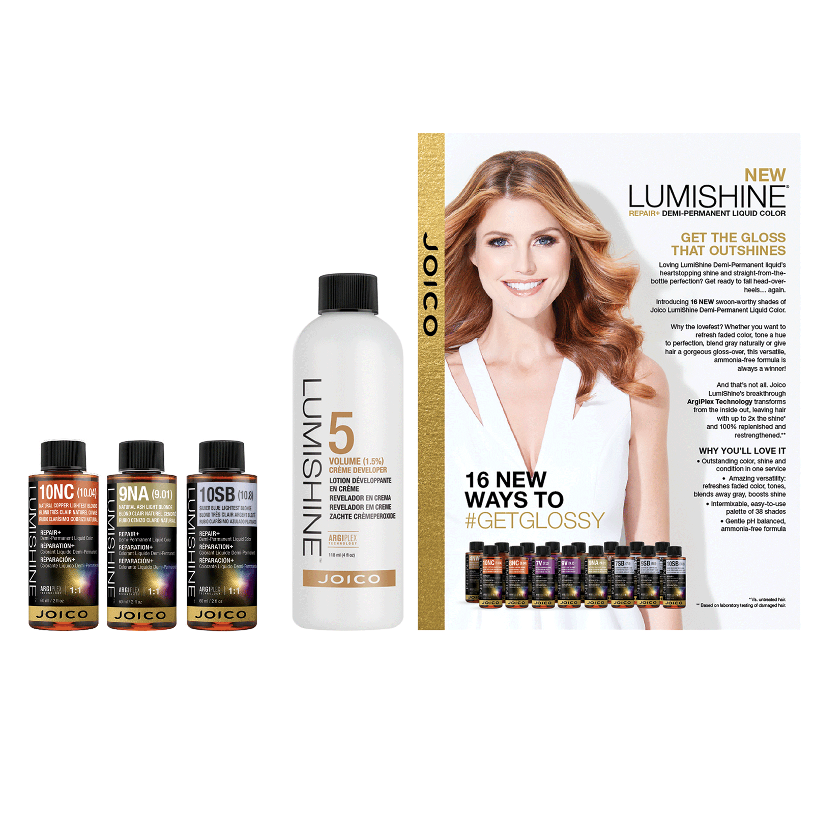 Lumishine Demi Liquid Try Me Kit Joico Cosmoprof