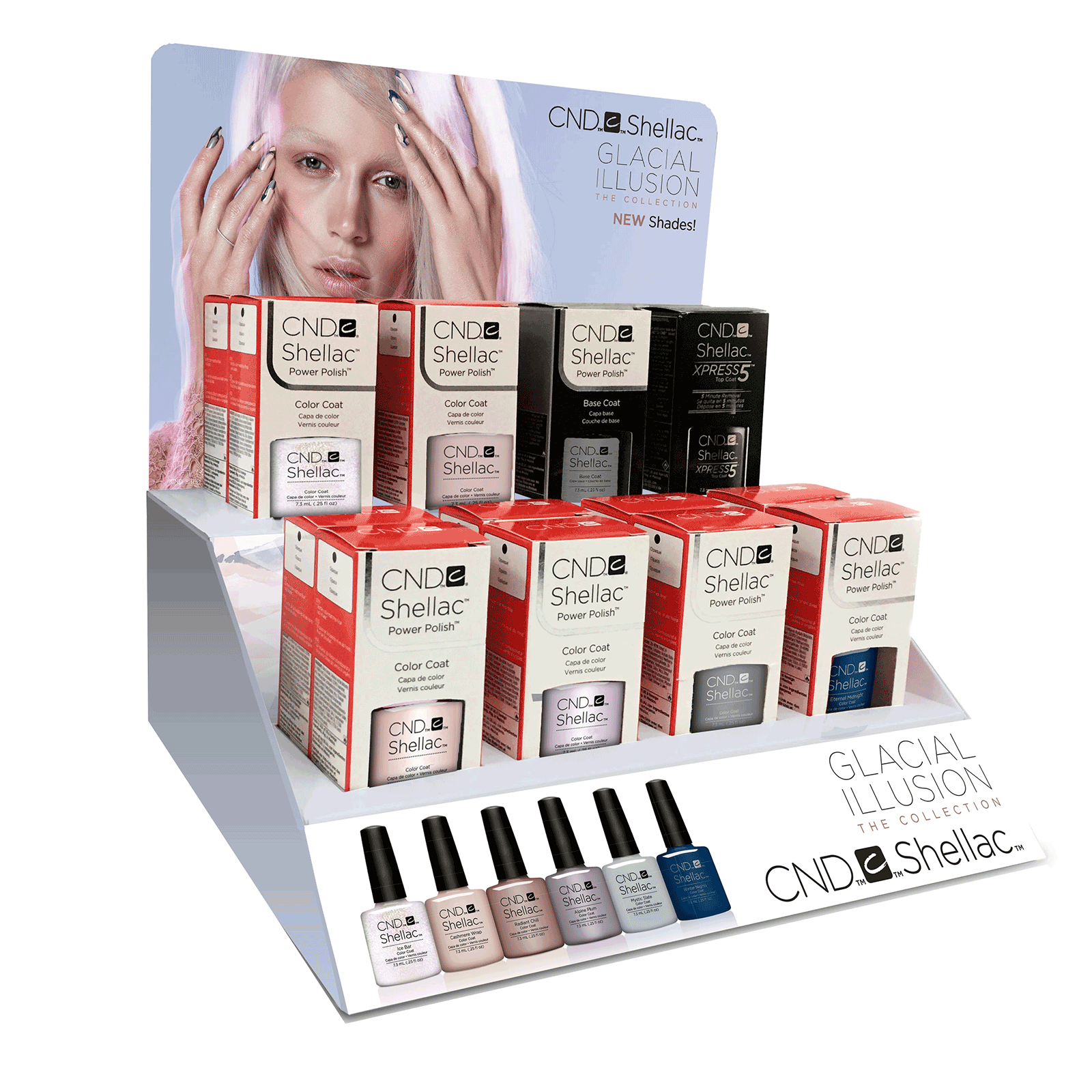 Shellac - Glacial Illusion Collection - 16 Piece Display