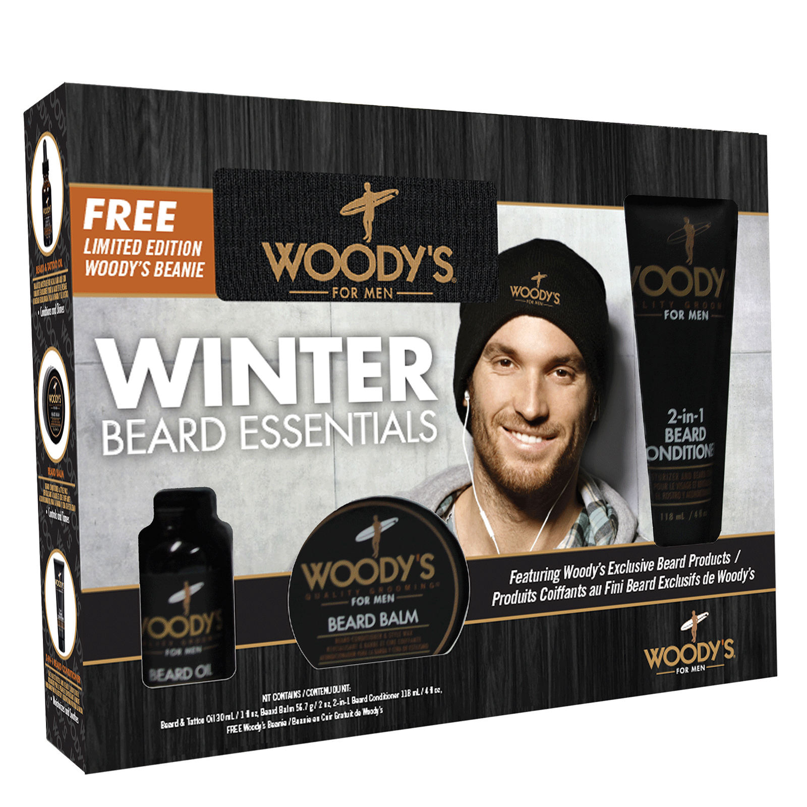 woody s holiday beard grooming kit woody 39 s holiday beard grooming kit with free woody 39 s. Black Bedroom Furniture Sets. Home Design Ideas