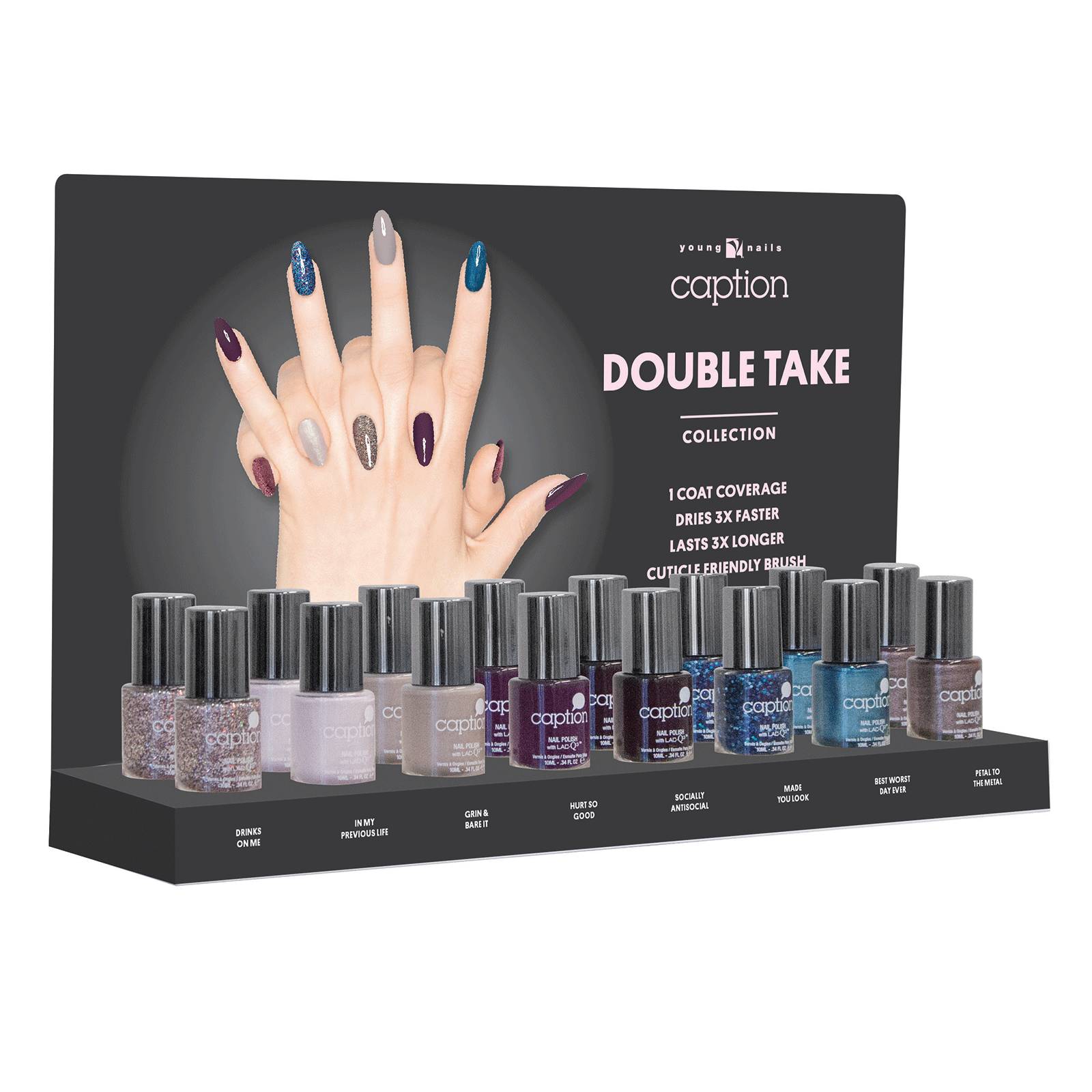 Caption Double Take Nail Color 16 Count Display