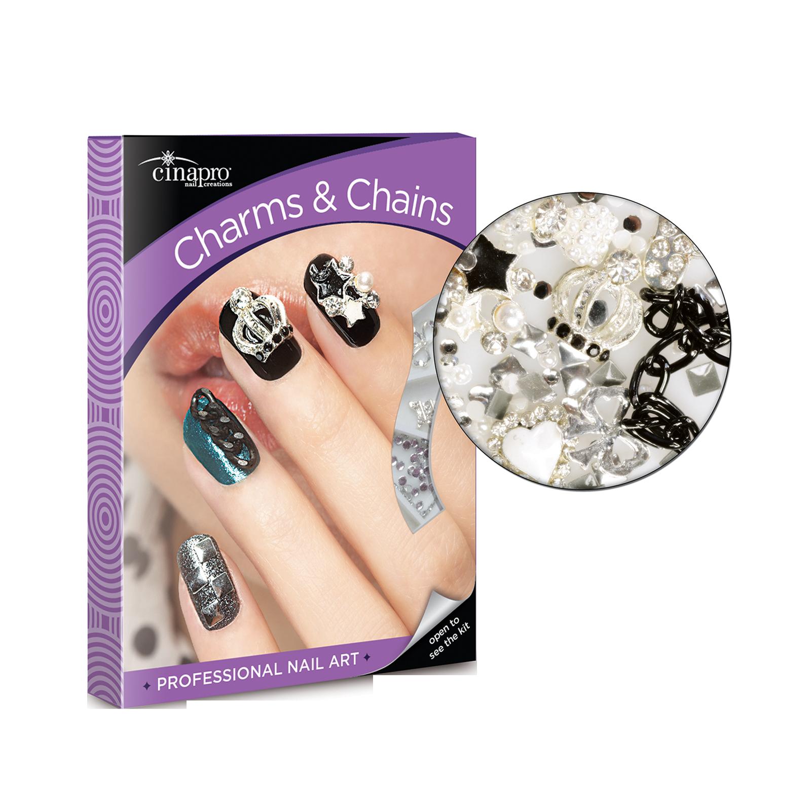 Cinapro Professional Nail Art Kit Charms Chains Cuccio Cina Pro Star Pro Cosmoprof