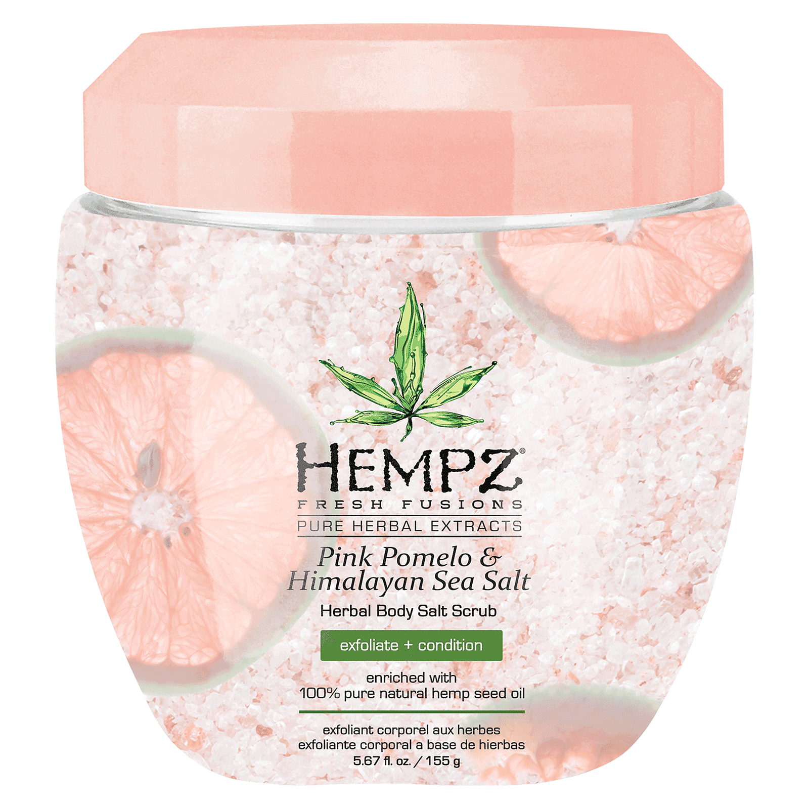 Pink Pomelo &Himalayan Sea Salt Herbal Body Salt Scrub