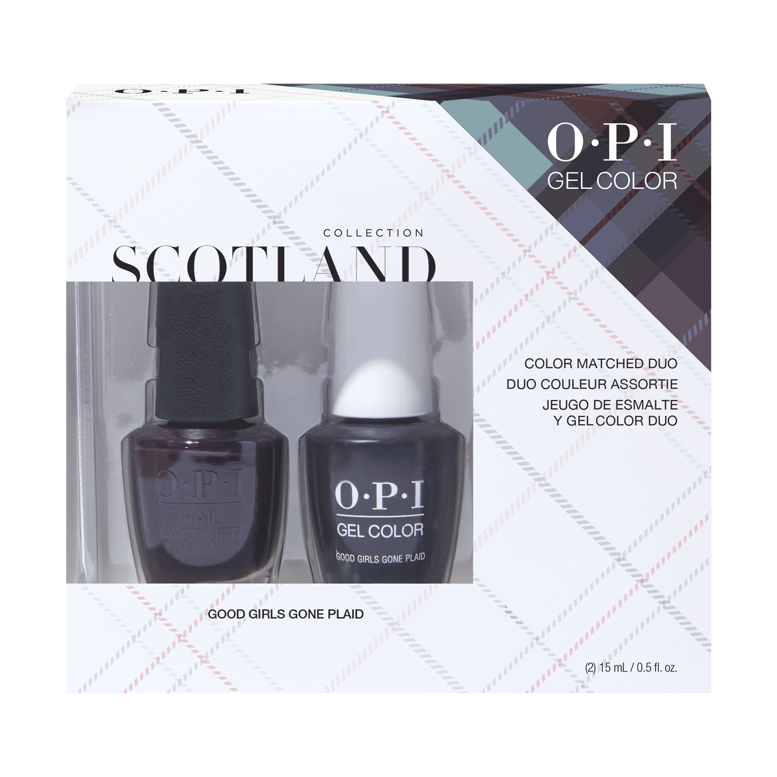 Girls Gone Plaid Gel & Lacquer Duo