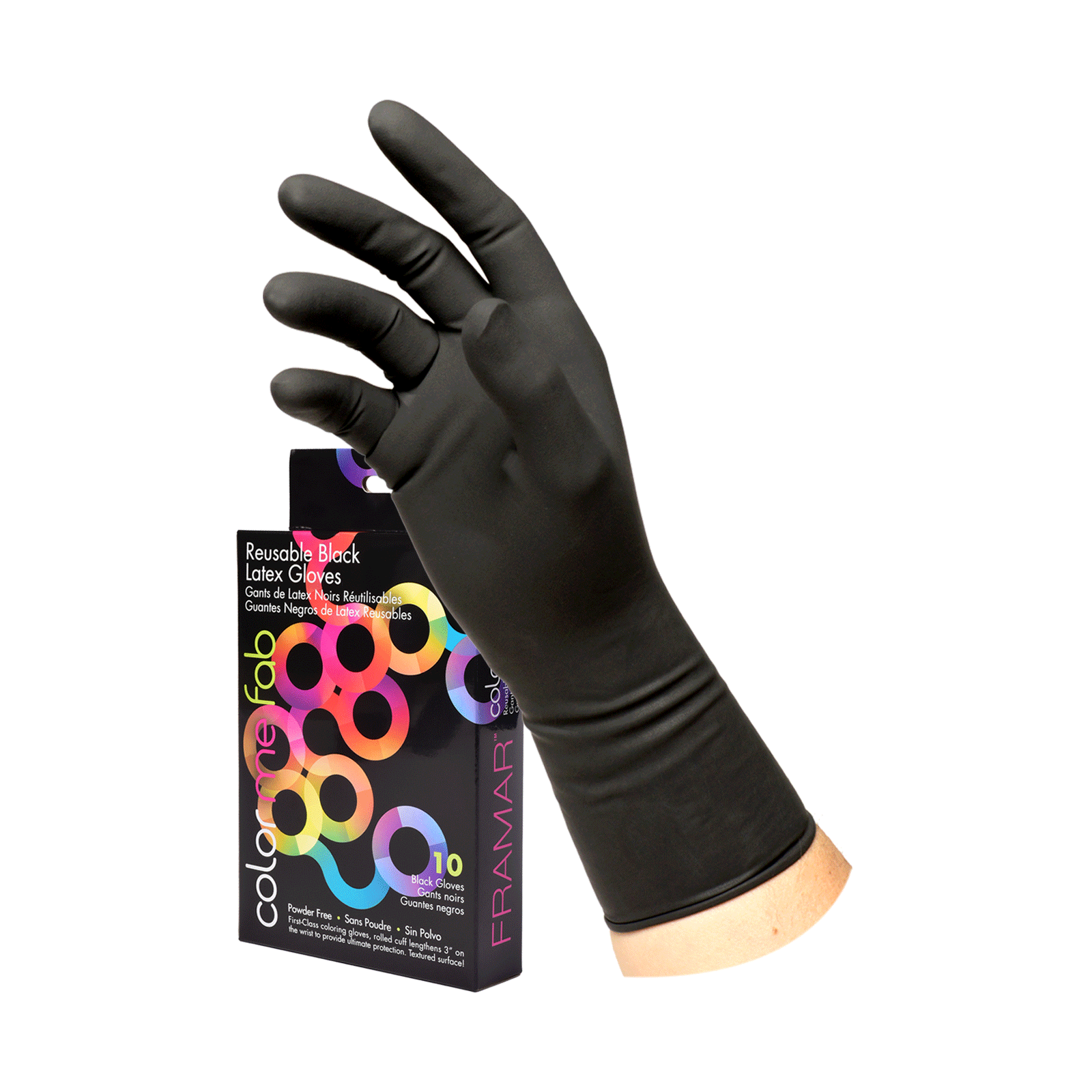 Latex Reusable Gloves Large - 10 pack