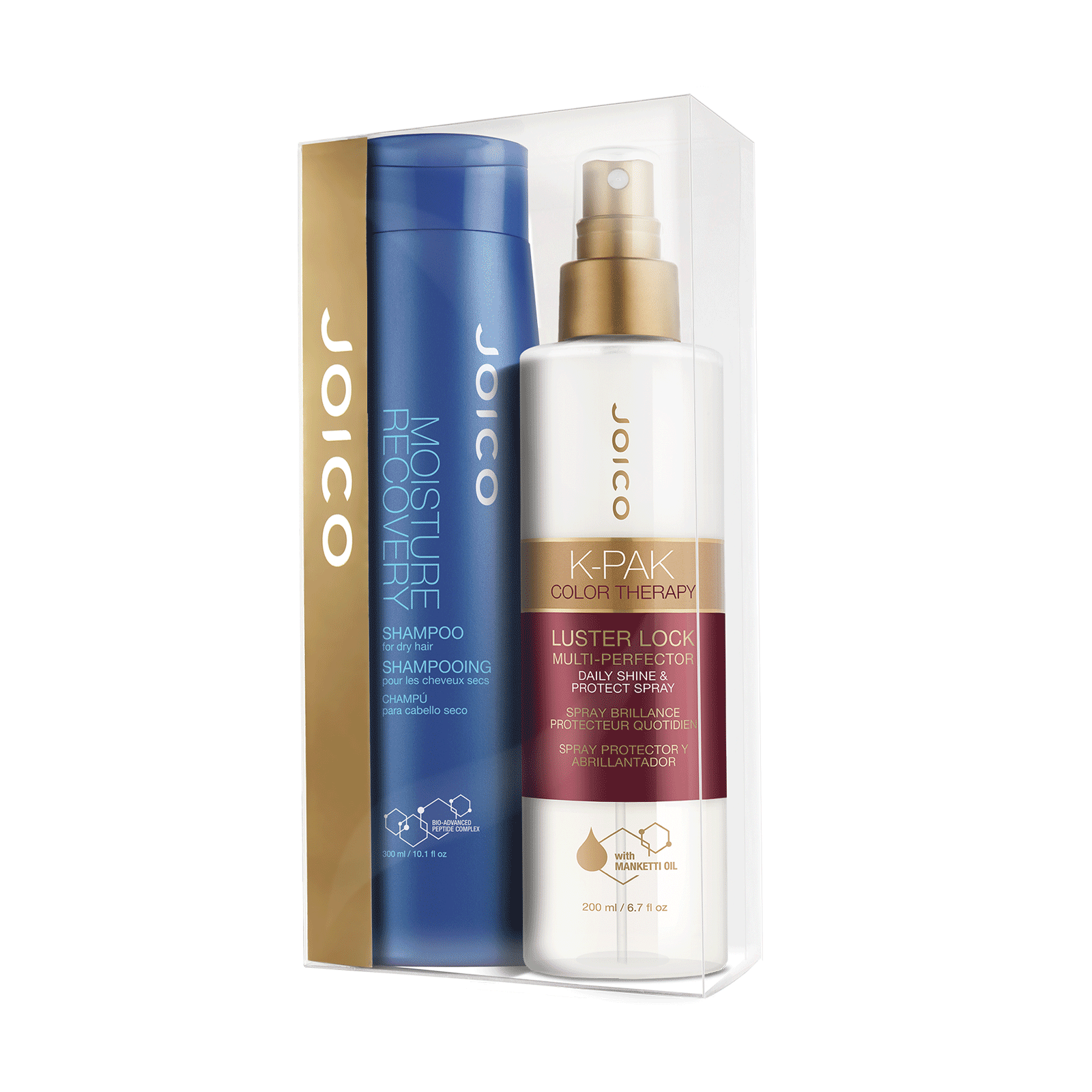 Moisture Recovery Shampoo & K-Pak Color Therapy Luster Lock