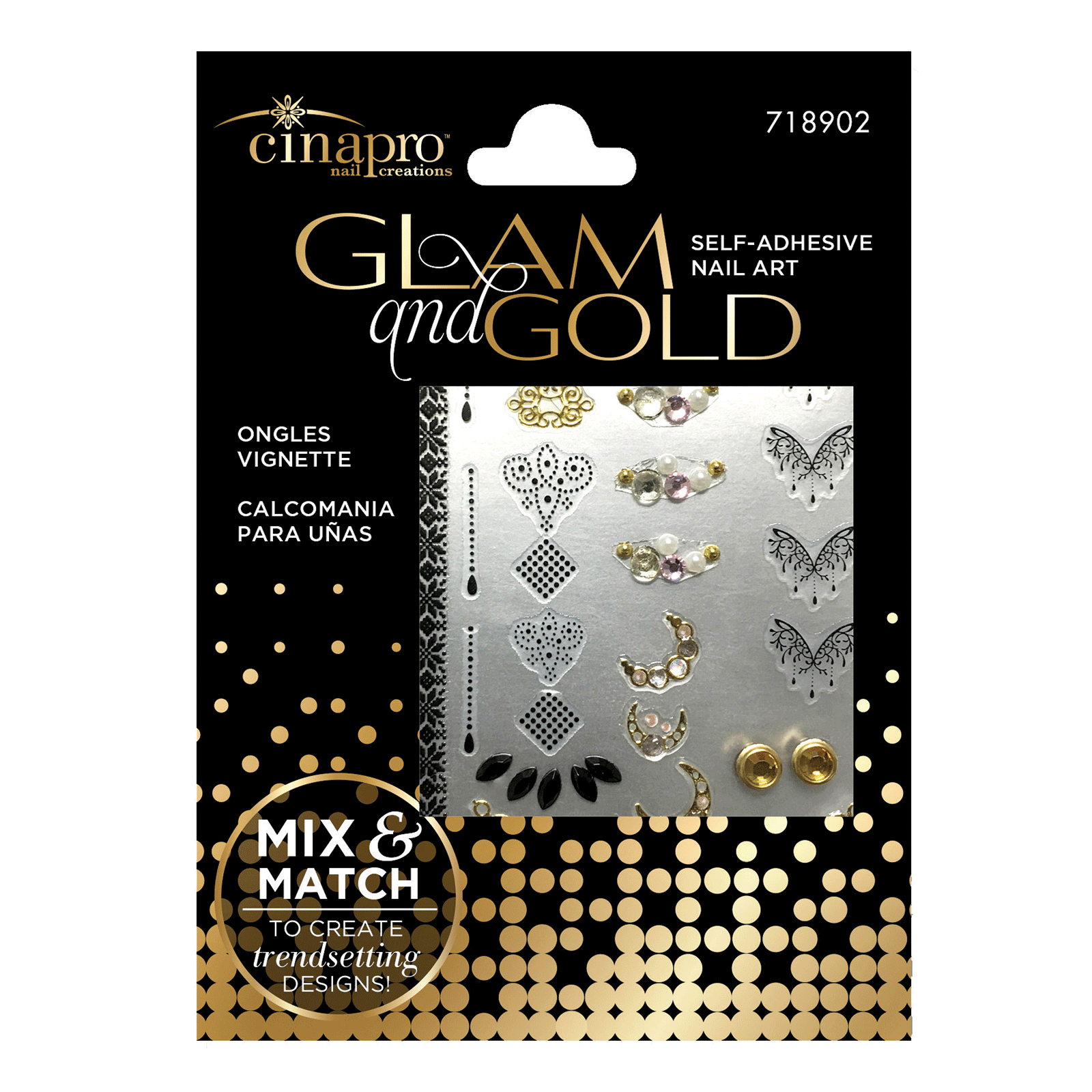 Cinapro Glam & Gold Nail Art Kit